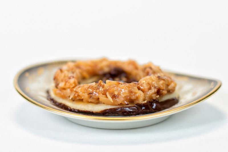 Homemade samoa cookie