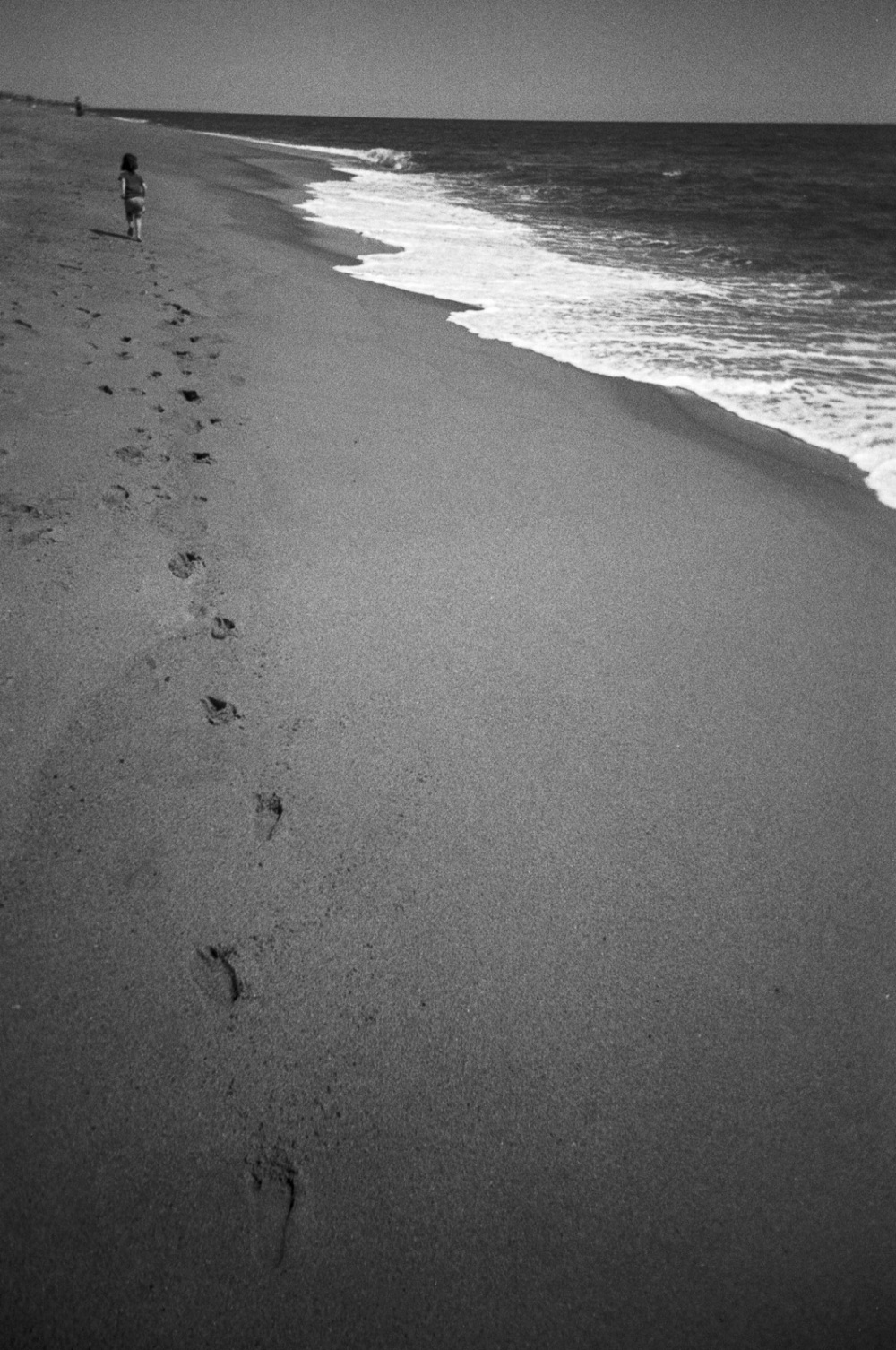 Footsteps on the beach, Outer Banks, NC