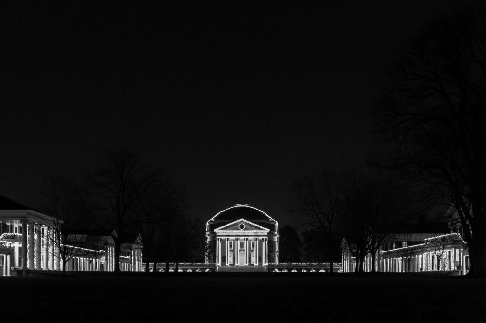 UVA Rotunda, night