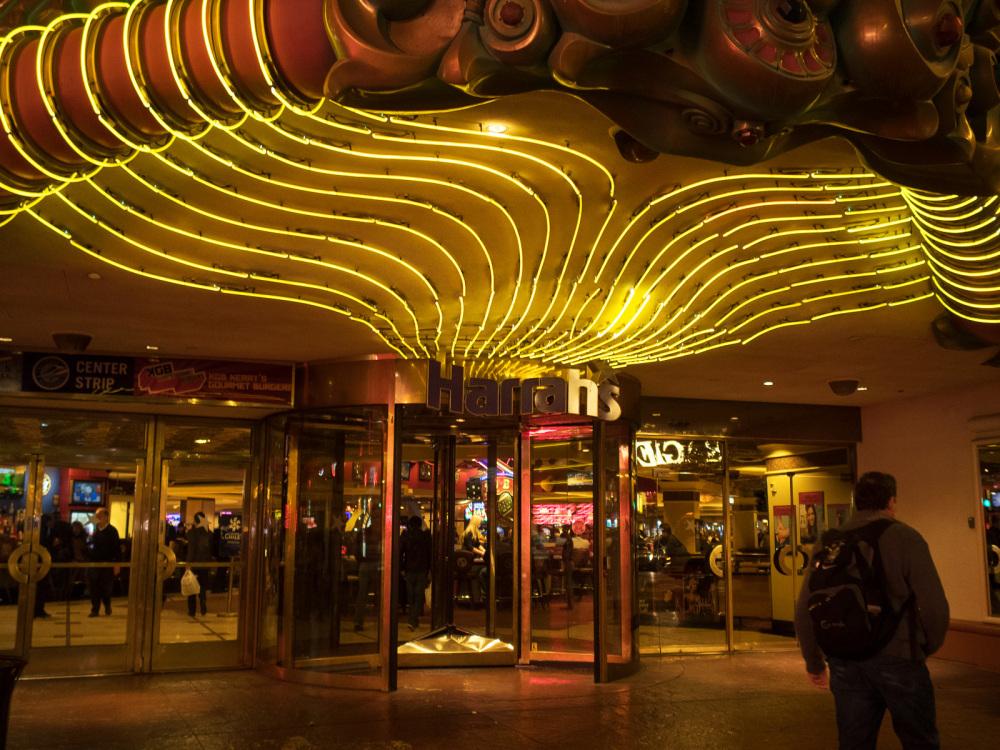Harrah's entrance, Las Vegas