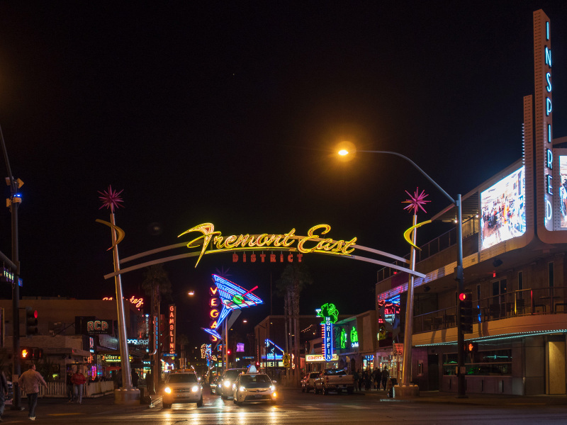 Fremont St sign, Las Vegas