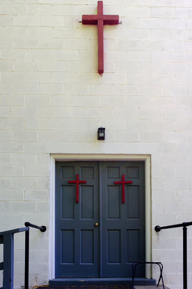 Small church entrance