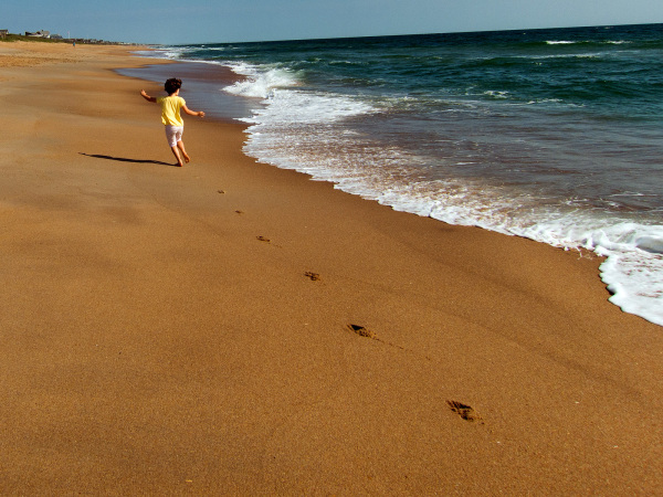 Beach footsteps, Outer Banks, NC