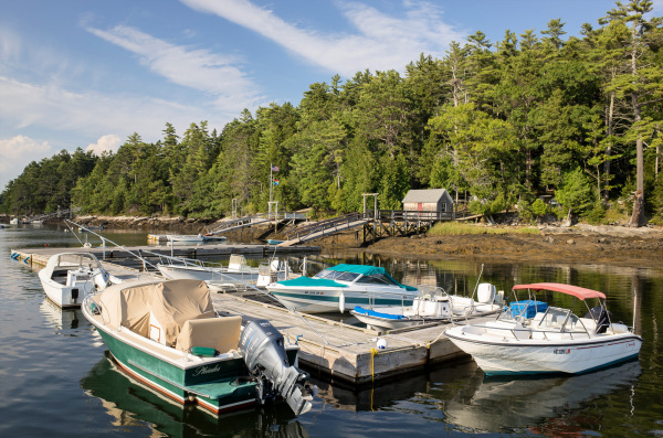 Docks, MacMahan Island, ME