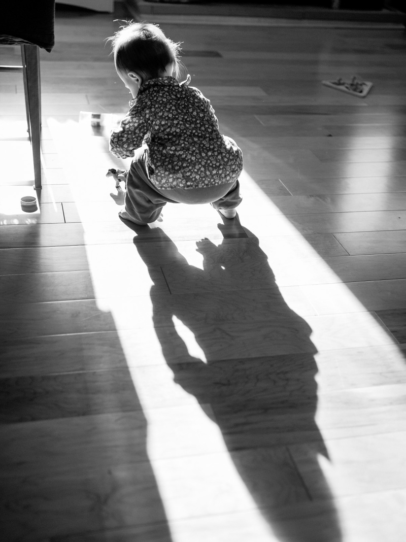 Playing on the floor