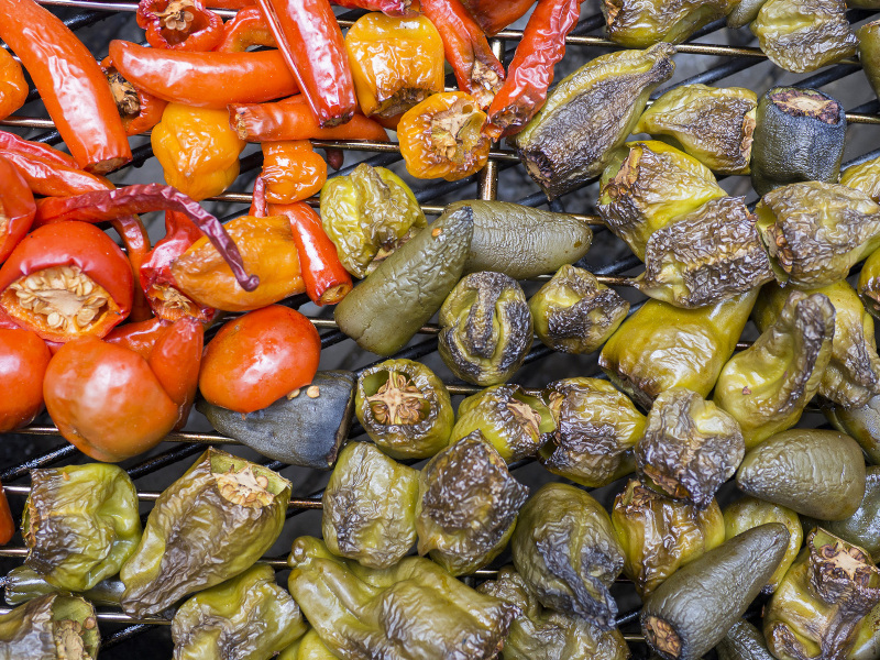Smoked peppers