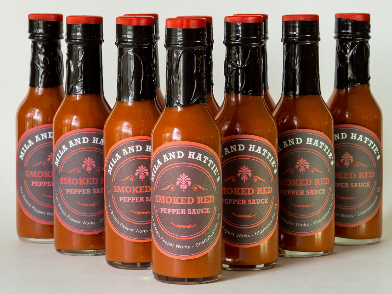 Fresh batch of hot sauce