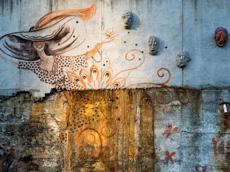 Wall detail, IX Art Park