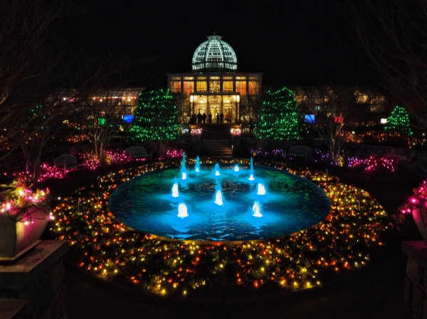 Holiday light show, Lewis Ginter Botanical Gardens