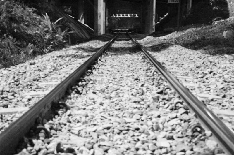 sitting on the tracks