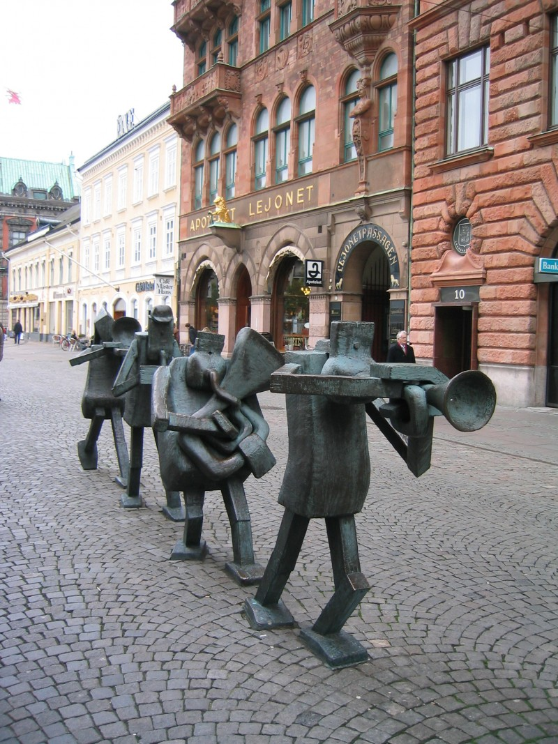 Marching musicians in Malmo