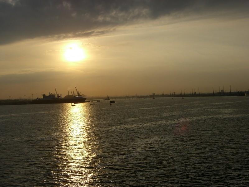 naval sunset