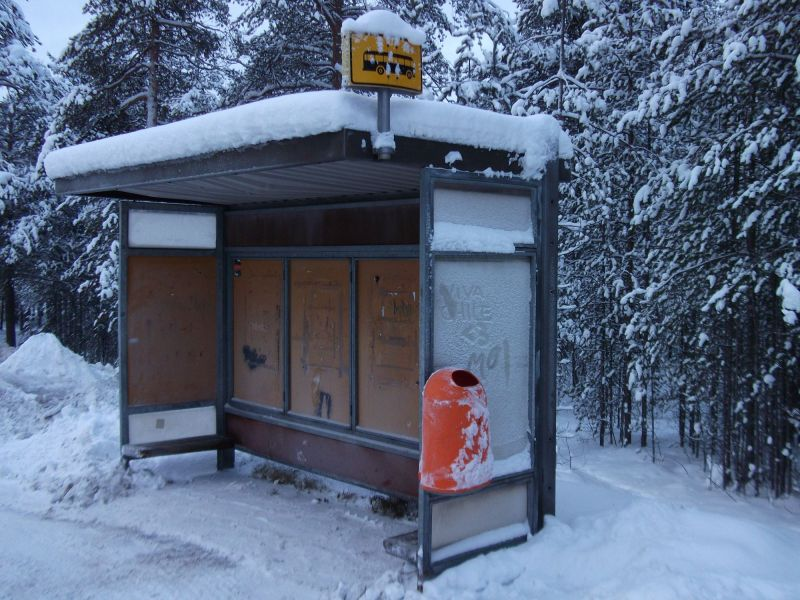 the bus stop at the end of the world