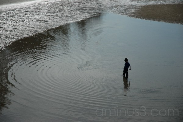 boy in sea