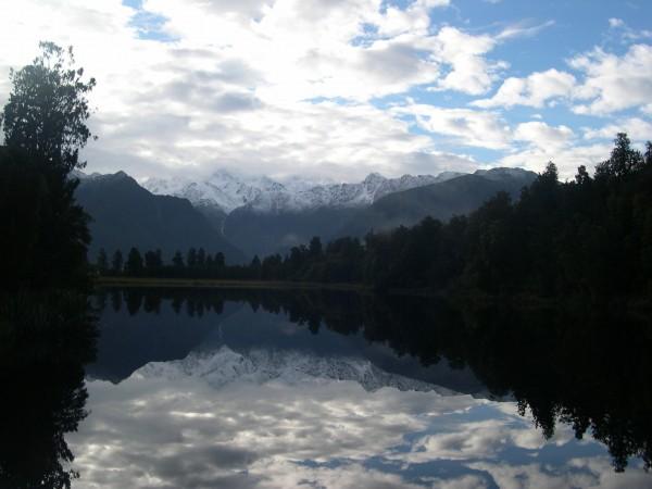 Lake Matheson and Mount Cook