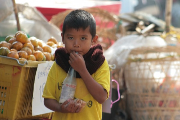 Little boy in Market