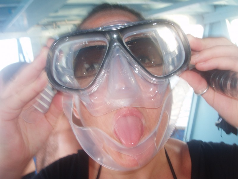 Getting ready to Scuba