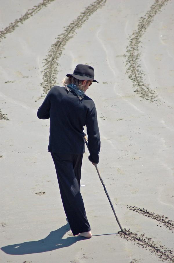 Beach artist begins