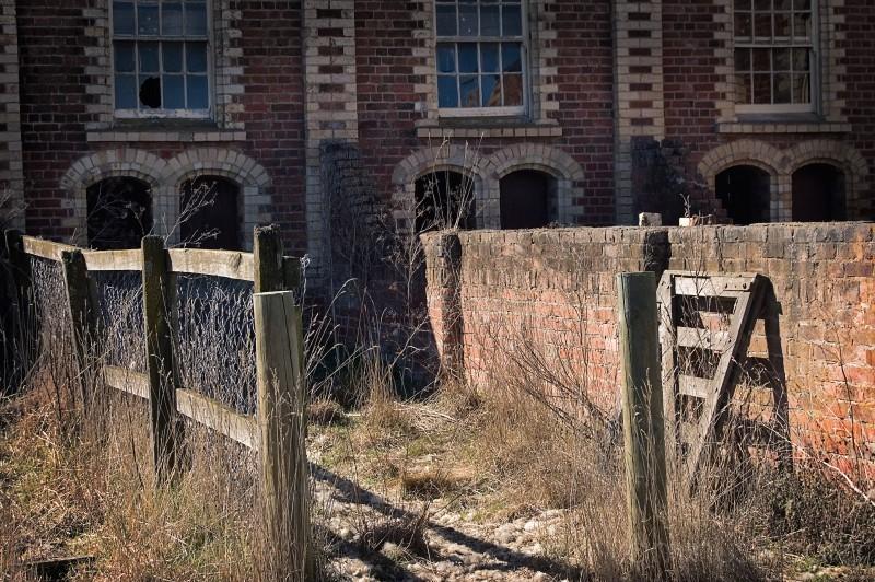 abandoned woolstore