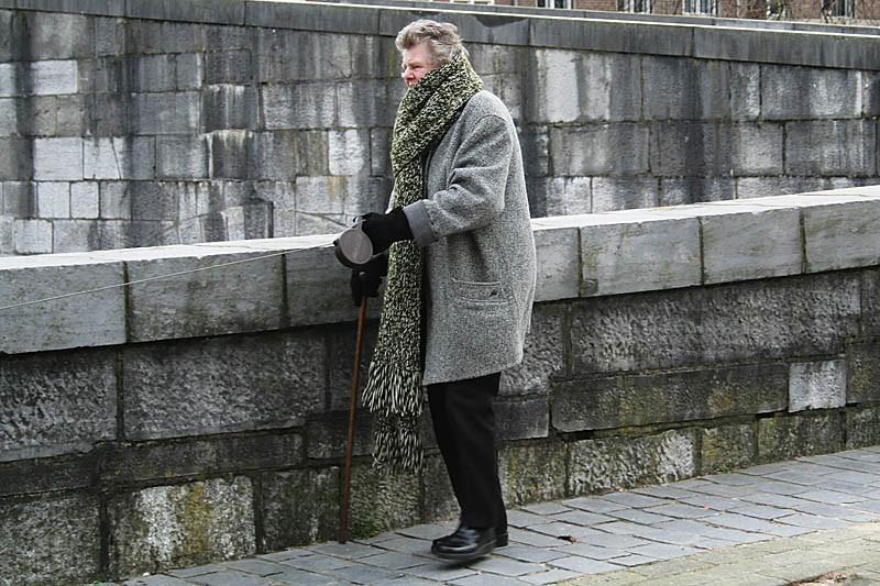 Woman & wall