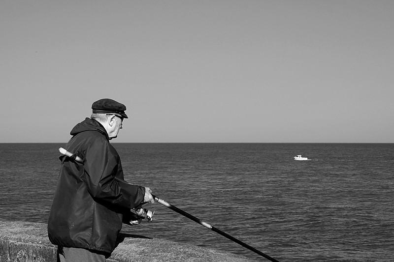 Angler and boat