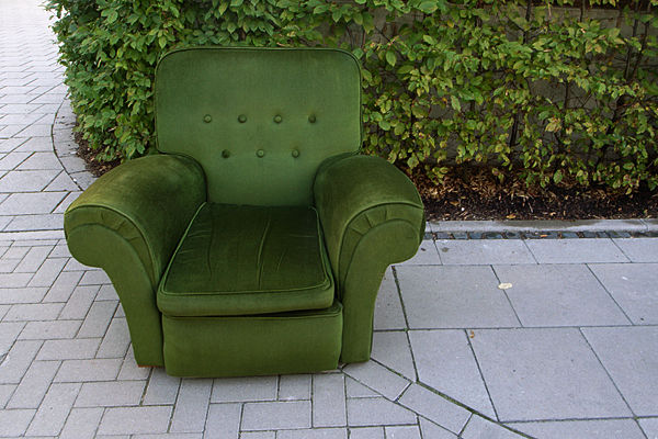 green armchair (without dog)