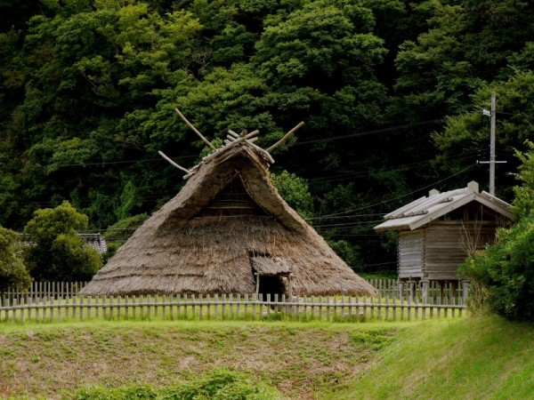 Thatch dwelling in 'ancient' village