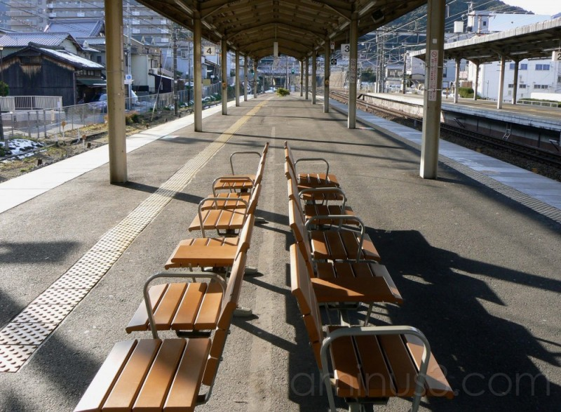 Seats on the platform