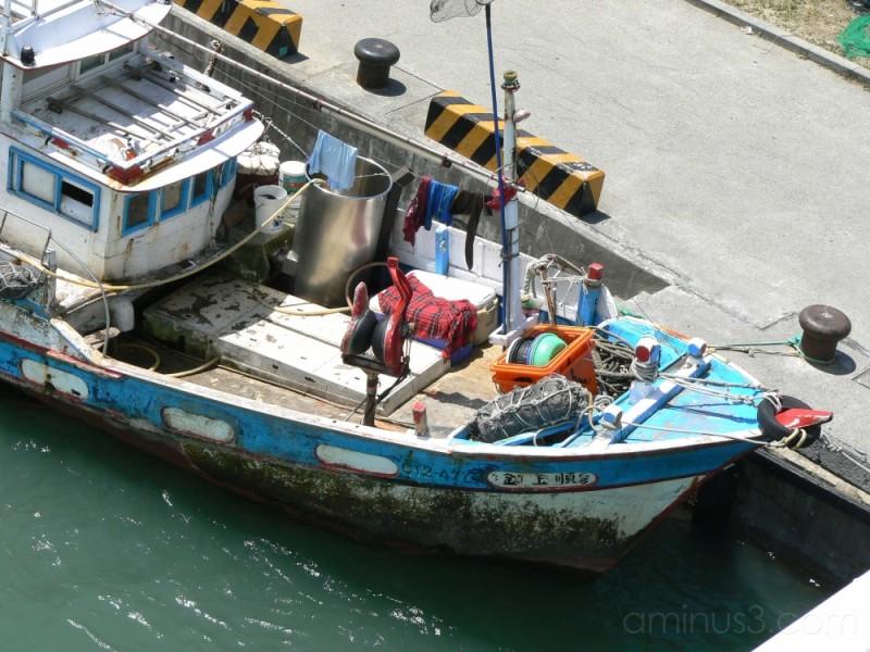 Fishing boat in Taipei
