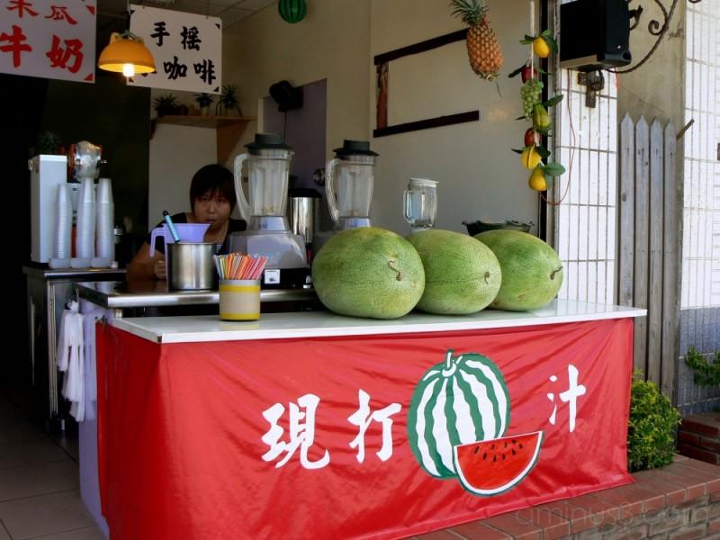 Watermelon juice stand in Taiwan
