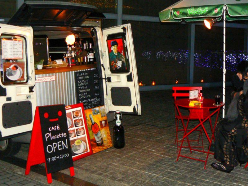cafe in a van