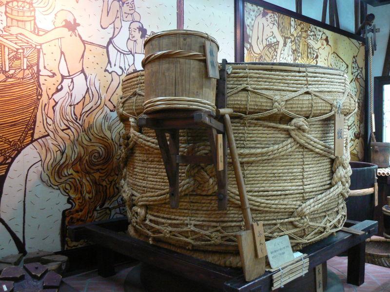 Sake museum display