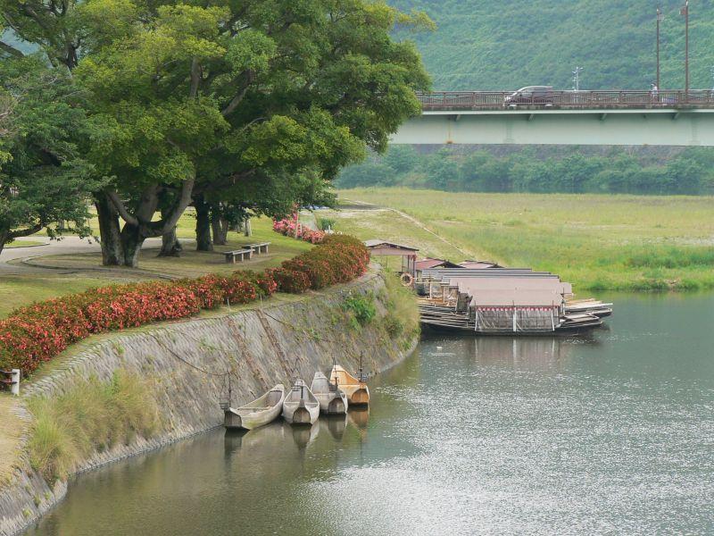 River boats at Iwakuni