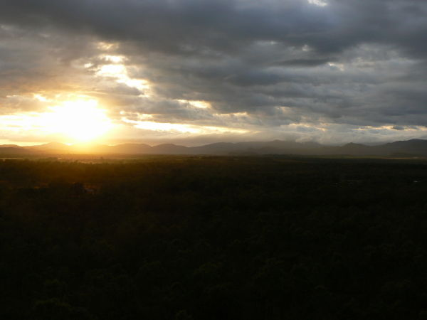 Mareeba sunrise from hot air balloon