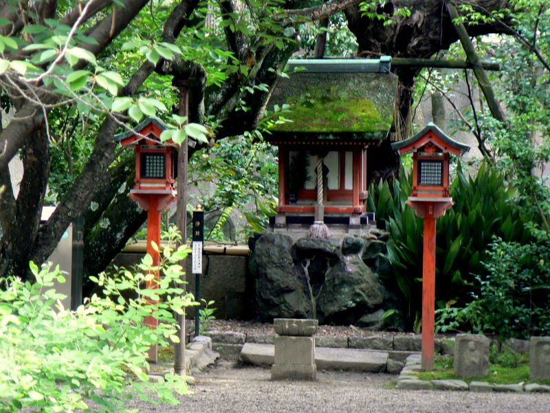 Small shrine in garden of Nara's Gango-ji Temple