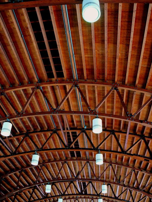 Ceiling of Nijo Station Platform