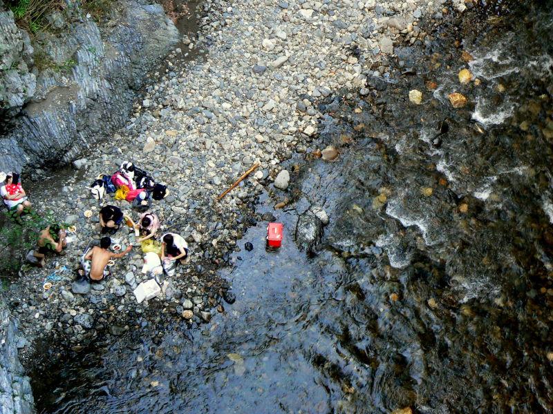 Picnickers at Nanao River
