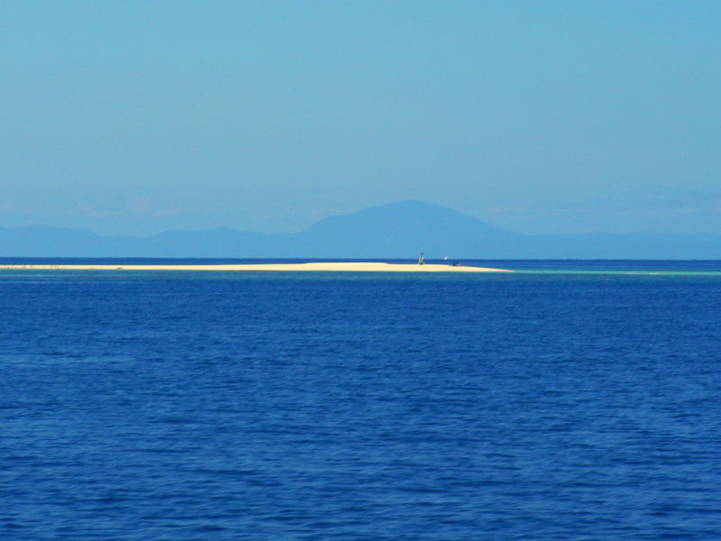 Small sand island at Great Barrier Reef