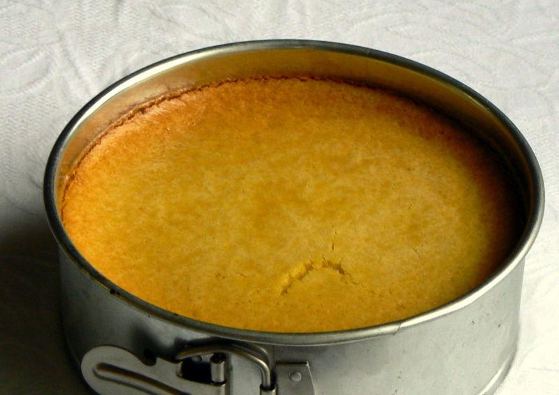 Pumpkin cake in baking tin
