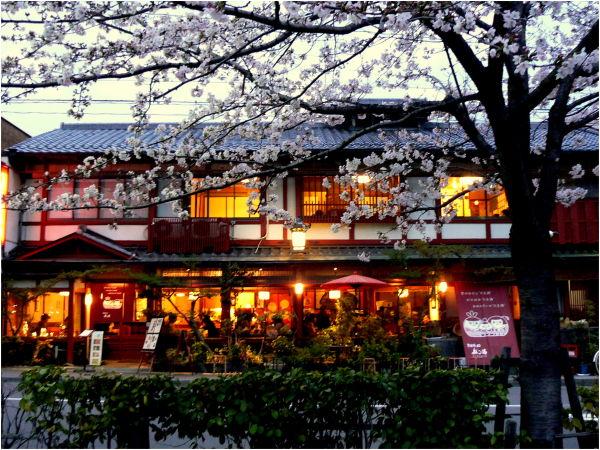 Kyoto restaurant at night