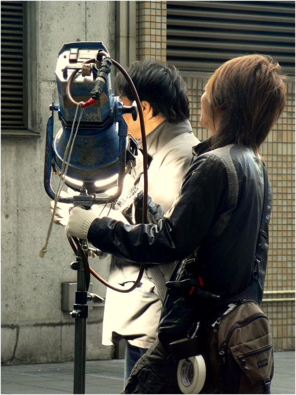 Filming at Kyoto Station