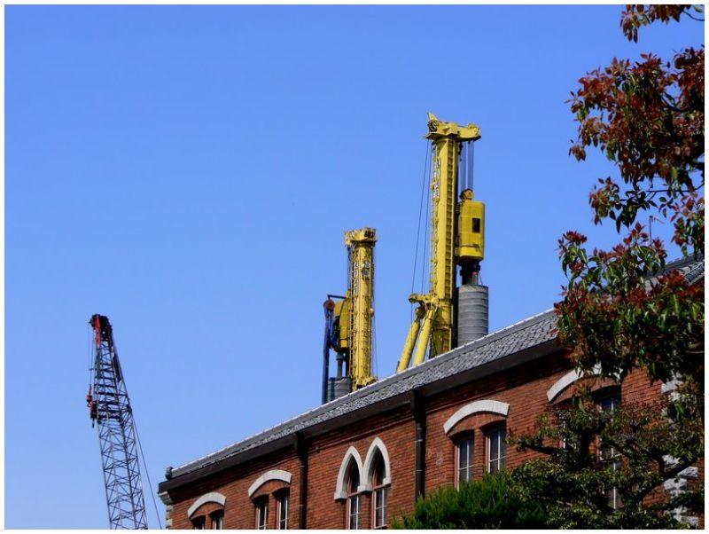 Cranes at Imadegawa Campus