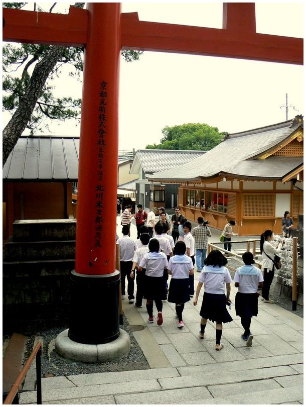 Japanese schoolgirls at Fushimi Inari