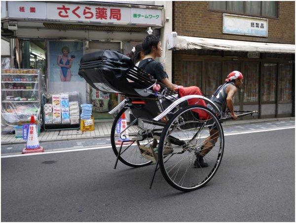 Tourist rickshaw in Gion, Kyoto