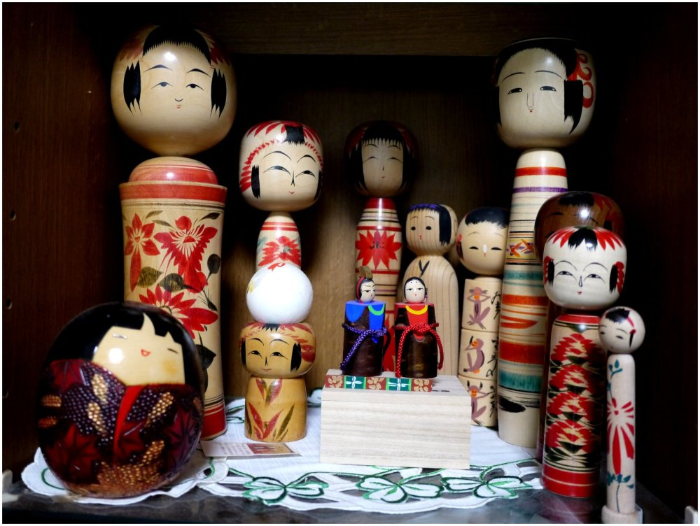 Traditional dolls from Niigata in Japan.