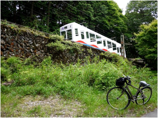 Bicycle and cable car