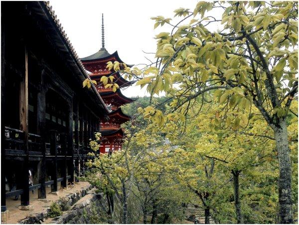 Red Japanese pagoda
