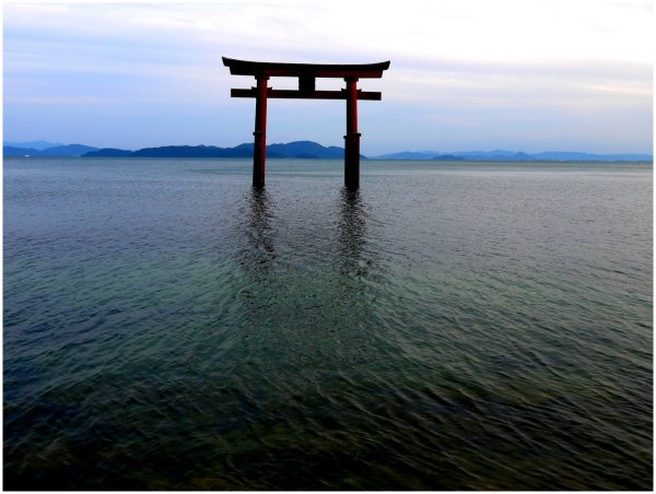 Torii in lake at Shirahige Shrine
