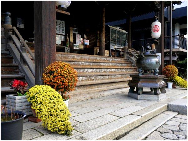 Japanese temple steps