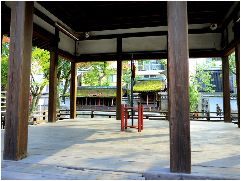Open floor at a Japanese temple